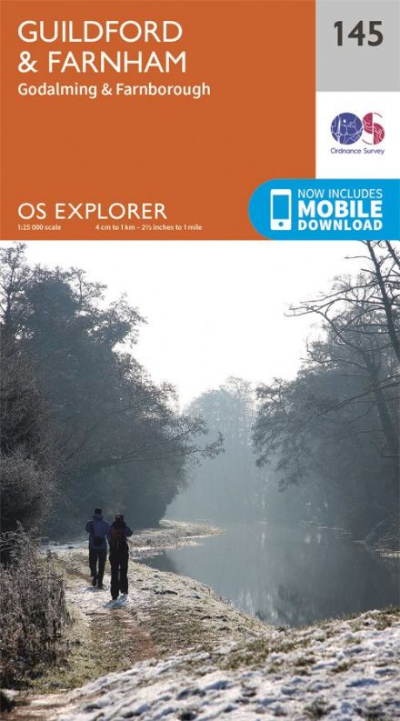 OS Explorer 145 - Guildford & Farnham, Godalming & Farnborough